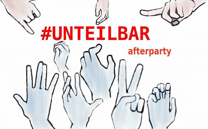 #unteilbar afterparty auf dem raw