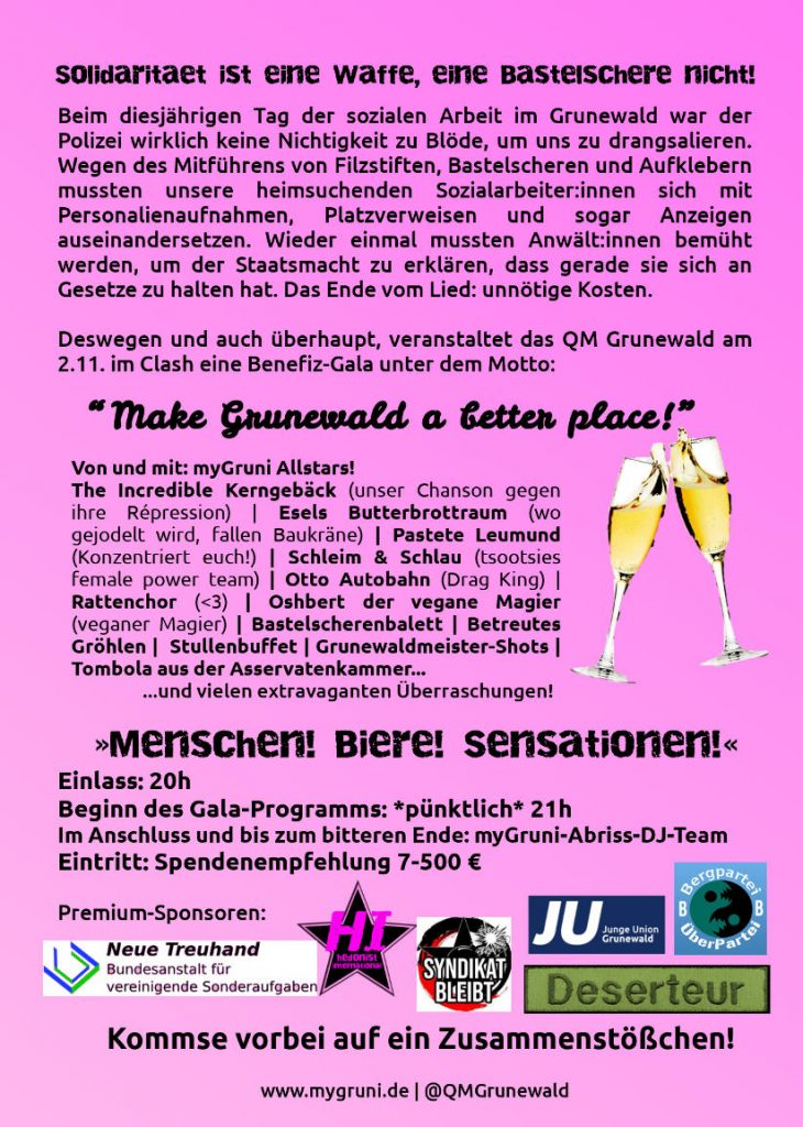 flyer für den 2.november